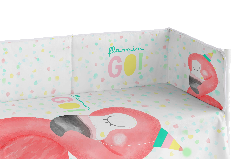 Protector Cuna bebe Flamingo Dreams