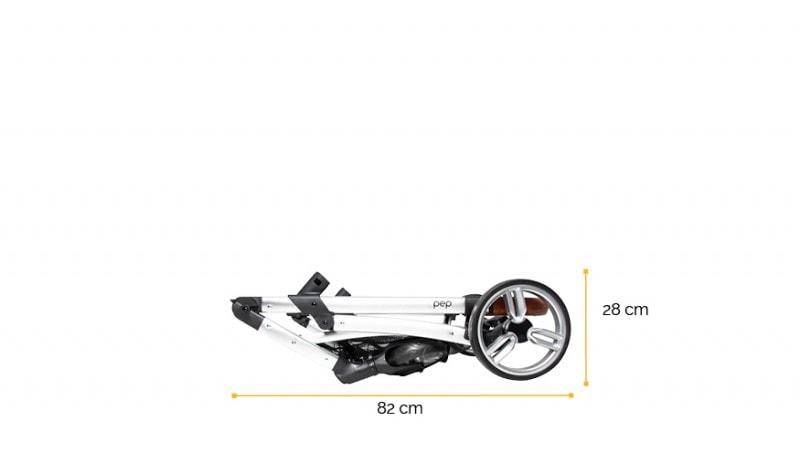 Silla paseo pep dimensiones chasis plegado