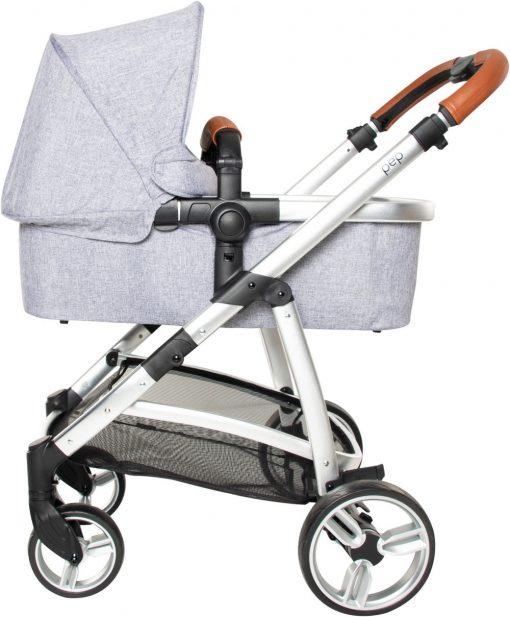 silla paseo pep duo grey melange capazo lateral